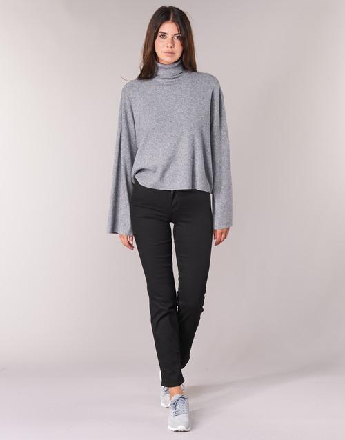 Textiel Dames Straight jeans Lee MARION STRAIGHT Zwart