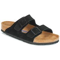 Schoenen Heren Leren slippers Birkenstock ARIZONA SFB Zwart