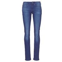 Textiel Dames Straight jeans G-Star Raw MIDGE SADDLE MID STRAIGHT Blauw / Medium / Vintage