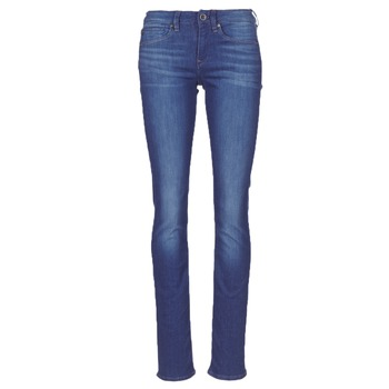 Textiel Dames Straight jeans G-Star Raw MIDGE SADDLE MID STRAIGHT Blauw / Medium / Vintage