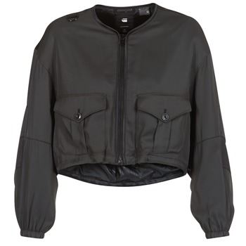 Textiel Dames Wind jackets G-Star Raw RACKAM OS CROPPED BOMBER Zwart