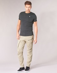 Textiel Heren Cargobroek G-Star Raw ROVIC ZIP 3D STRAIGHT TAPERED Beige