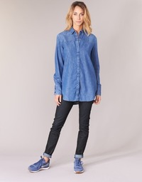 Textiel Dames Skinny Jeans G-Star Raw LYNN MID SKINNY Blauw / Vintage