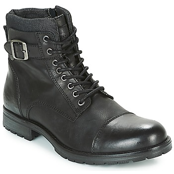 Schoenen Heren Laarzen Jack & Jones ALBANY LEATHER Zwart