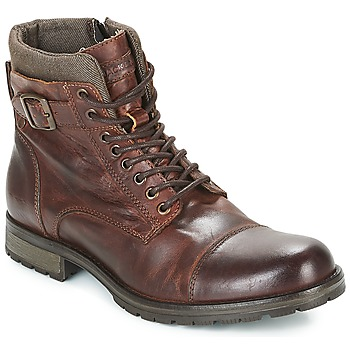 Schoenen Heren Laarzen Jack & Jones ALBANY LEATHER Bruin