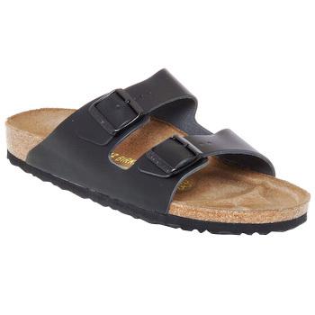 Schoenen Heren Leren slippers Birkenstock ARIZONA Zwart