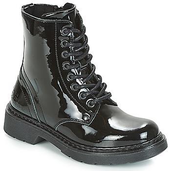 Schoenen Meisjes Laarzen Bullboxer LANA Zwart / Patent