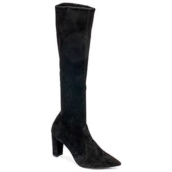 Schoenen Dames Hoge laarzen Perlato JEANY Cam / Stretch / Zwart