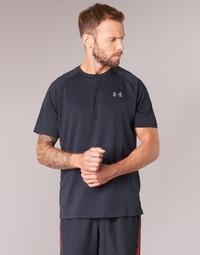 Textiel Heren T-shirts korte mouwen Under Armour UA TECH SS TEE Zwart
