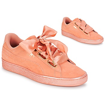 Schoenen Dames Lage sneakers Puma WN SUEDE HEART SATIN.DUSTY Oranje
