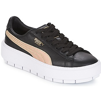 Schoenen Dames Lage sneakers Puma WN PLATFORM TRACE BSQT.BLK Zwart