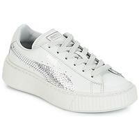 Schoenen Meisjes Lage sneakers Puma G PS B PLATFORM BLING.GRAY Grijs