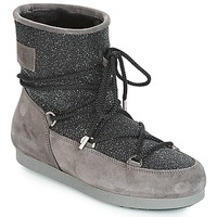 Schoenen Dames Snowboots Moon Boot FAR SIDE LOW SUEDE GLITTER Zwart / Grijs