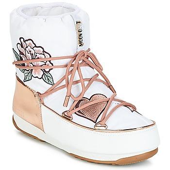 Schoenen Dames Snowboots Moon Boot PEACE & LOVE WP Wit / Roze / Goud