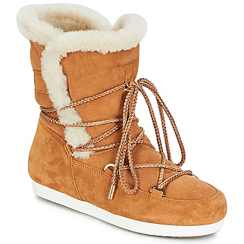 Schoenen Dames Snowboots Moon Boot FAR SIDE HIGH SHEARLING Cognac / Wit