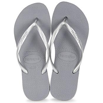 Schoenen Dames Teenslippers Havaianas SLIM Grijs / Metaal