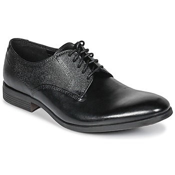 Schoenen Heren Derby Clarks GILMORE Zwart / Leer