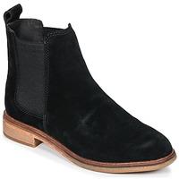 Schoenen Dames Laarzen Clarks CLARKDALE Zwart