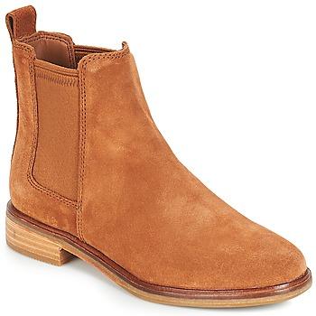 Schoenen Dames Laarzen Clarks CLARKDALE Camel