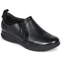 Schoenen Dames Derby Clarks UN Zwart / Combi