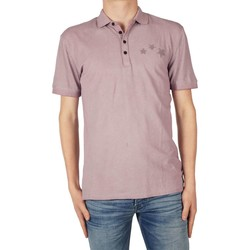 Textiel Heren Polo's lange mouwen Antony Morato Polo pocket and tape stars Roze