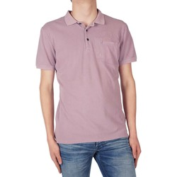 Textiel Heren Polo's lange mouwen Antony Morato Polo embroidery and pocket Roze