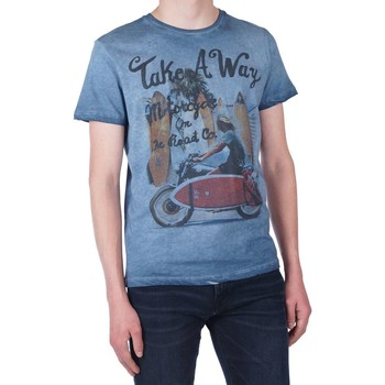 Textiel Heren T-shirts korte mouwen Take A Way T-shirt royal Blauw