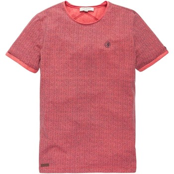 Textiel Heren T-shirts korte mouwen Cast Iron R-neck multicolor melange jersey hot coral Roze