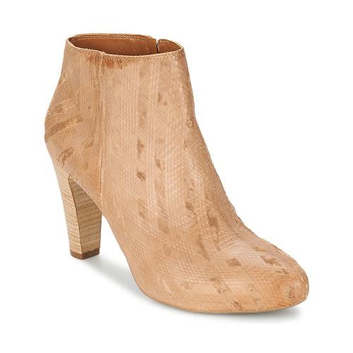 Schoenen Dames Enkellaarzen Vic RIBE INTAGLIATO Bruin