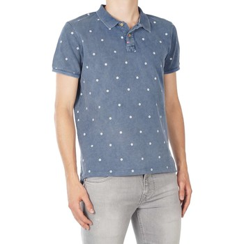 Textiel Heren Polo's korte mouwen Take A Way Polo all over printed Blauw