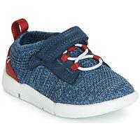 Schoenen Jongens Lage sneakers Clarks Tri Hero Blauw / Combi