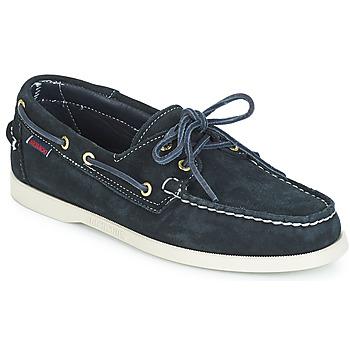 Schoenen Heren Bootschoenen Sebago DOCKSIDES SUEDE Marine