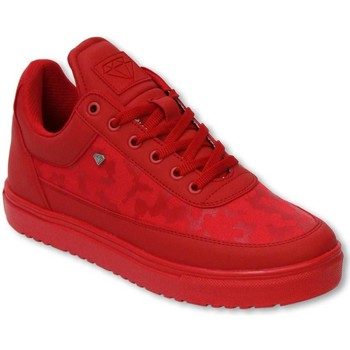 Schoenen Heren Lage sneakers Cash Money Schoenen - Sneaker Low Camouflage Side - Case Army Full Red Rood