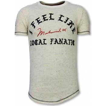 Textiel Heren T-shirts korte mouwen Local Fanatic Longfit T-Shirt - I Feel Like Muhammad 6887