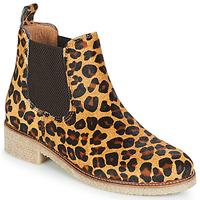 Schoenen Dames Laarzen Bensimon BOOTS CREPE Luipaard