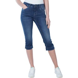 Textiel Dames Straight jeans Mac Dream capri dark used Denim