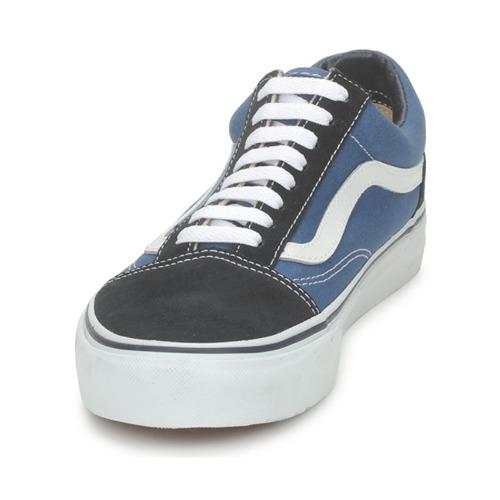 Vans OLD SKOOL Blauw - Gratis levering  Schoenen Lage sneakers
