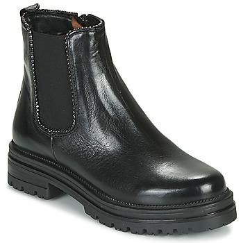 Schoenen Dames Laarzen Mjus DOBLE CHELS Zwart