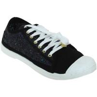 Schoenen Dames Lage sneakers Le Temps des Cerises Basic 02 glitter Zwart canvas