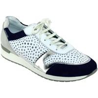 Schoenen Dames Lage sneakers Mephisto Nadine Wit / marineblauw
