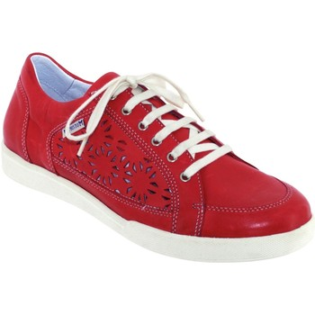 Schoenen Dames Lage sneakers Mephisto Daniele perf Rood leer