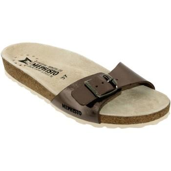Schoenen Dames slippers Mephisto Nanouchka Taupe leer