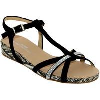 Schoenen Dames Sandalen / Open schoenen Brenda Zaro F2719 Velvet zwart