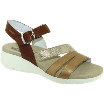 Schoenen Dames Sandalen / Open schoenen Mephisto Klarissa Bruin / goud leer