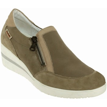 Schoenen Dames Mocassins Mobils By Mephisto Pupina Taupe leer