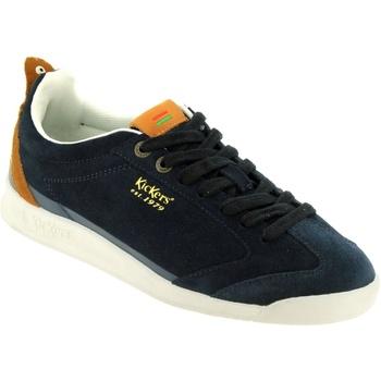 Schoenen Heren Lage sneakers Kickers Kick 18 Marineblauw fluweel