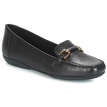 Schoenen Dames Mocassins Geox D ANNYTAH MOC Zwart