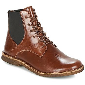 Schoenen Dames Laarzen Kickers TITI Bruin