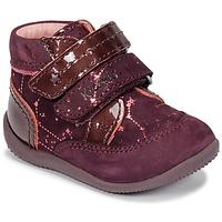 Schoenen Meisjes Laarzen Kickers BILIANA Violet / Roze