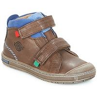Schoenen Jongens Hoge sneakers Kickers IGUTO Bruin